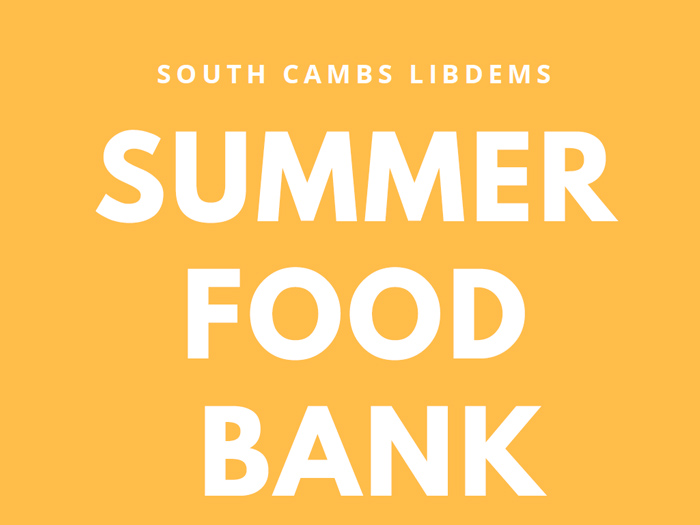 Summer Food Bank Campaign